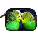 Kiss And Love Lovebird Digital Camera Leather Case