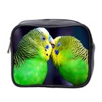 Kiss And Love Lovebird Mini Toiletries Bag (Two Sides)