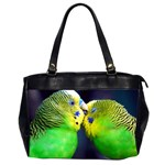 Kiss And Love Lovebird Oversize Office Handbag (Two Sides)