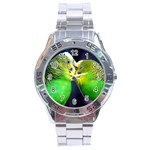 Kiss And Love Lovebird Stainless Steel Analogue Men's Watch