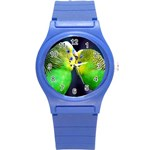 Kiss And Love Lovebird Round Plastic Sport Watch Small