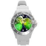 Kiss And Love Lovebird Round Plastic Sport Watch Large