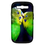 Kiss And Love Lovebird Samsung Galaxy S III Hardshell Case (PC+Silicone)