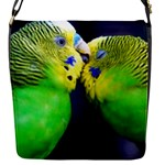Kiss And Love Lovebird Flap closure messenger bag (Small)