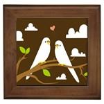 Keep Calm And Love On Framed Tile