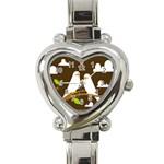 Keep Calm And Love On Heart Italian Charm Watch