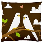 Keep Calm And Love On Large Cushion Case (One Side)