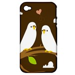 Keep Calm And Love On Apple iPhone 4/4S Hardshell Case (PC+Silicone)
