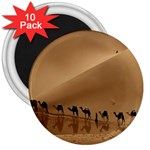 Marching To Success Camel In Desert 3  Magnet (10 pack)