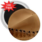 Marching To Success Camel In Desert 3  Magnet (100 pack)