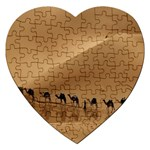 Marching To Success Camel In Desert Jigsaw Puzzle (Heart)