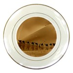 Marching To Success Camel In Desert Porcelain Plate
