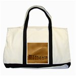 Marching To Success Camel In Desert Two Tone Tote Bag