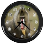 Mandrill Monkey Wall Clock (Black)