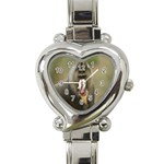 Mandrill Monkey Heart Italian Charm Watch