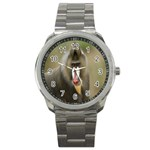 Mandrill Monkey Sport Metal Watch