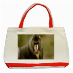 Mandrill Monkey Classic Tote Bag (Red)