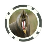 Mandrill Monkey Poker Chip Card Guard