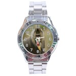 Mandrill Monkey Stainless Steel Analogue Men's Watch