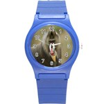Mandrill Monkey Round Plastic Sport Watch Small