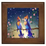Peaceful And Love Birds Framed Tile