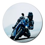 Vehicles Motorcycle Racer Round Mousepad