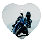 Vehicles Motorcycle Racer Ornament (Heart)