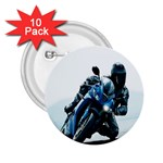 Vehicles Motorcycle Racer 2.25  Button (10 pack)