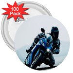 Vehicles Motorcycle Racer 3  Button (100 pack)