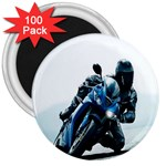 Vehicles Motorcycle Racer 3  Magnet (100 pack)