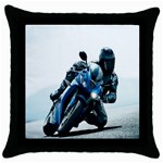 Vehicles Motorcycle Racer Throw Pillow Case (Black)