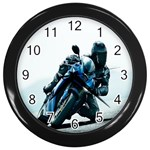 Vehicles Motorcycle Racer Wall Clock (Black)