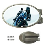 Vehicles Motorcycle Racer Money Clip (Oval)