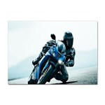 Vehicles Motorcycle Racer Sticker (A4)