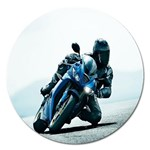 Vehicles Motorcycle Racer Magnet 5  (Round)