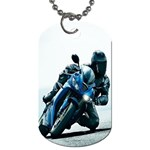 Vehicles Motorcycle Racer Dog Tag (Two Sides)