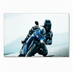 Vehicles Motorcycle Racer Postcard 4  x 6