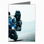 Vehicles Motorcycle Racer Greeting Card