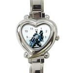 Vehicles Motorcycle Racer Heart Italian Charm Watch