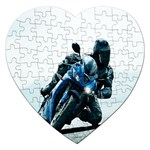 Vehicles Motorcycle Racer Jigsaw Puzzle (Heart)