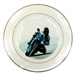 Vehicles Motorcycle Racer Porcelain Plate