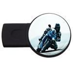 Vehicles Motorcycle Racer USB Flash Drive Round (4 GB)