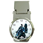 Vehicles Motorcycle Racer Money Clip Watch
