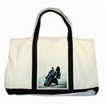 Vehicles Motorcycle Racer Two Tone Tote Bag