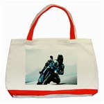 Vehicles Motorcycle Racer Classic Tote Bag (Red)