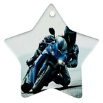 Vehicles Motorcycle Racer Star Ornament (Two Sides)