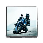 Vehicles Motorcycle Racer Memory Card Reader with Storage (Square)
