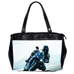 Vehicles Motorcycle Racer Oversize Office Handbag (Two Sides)