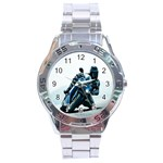 Vehicles Motorcycle Racer Stainless Steel Analogue Men's Watch