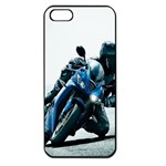 Vehicles Motorcycle Racer Apple iPhone 5 Seamless Case (Black)